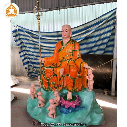 Tượng địa tạng vương bồ tát cầu siêu thai nhi bằng bột đá