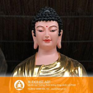 Tượng Phật A Di Đà dáng đứng đài sen cao 2,5 mét