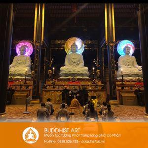 Đắp trực tiếp tôn tượng Tam Bảo Phật bằng xi măng tại Thiền Viện Khánh An 2