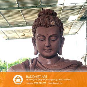 Tượng Phật Bổn Sư Thích Ca Bằng Đồng khâu tạo mẫu