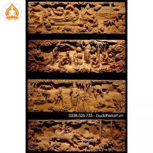 Bộ 8 phù điêu về cuộc đời Đức Phật