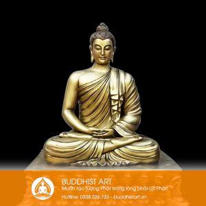 Tượng Phật Bổn Sư Thích Ca Bằng Đồng 120cm