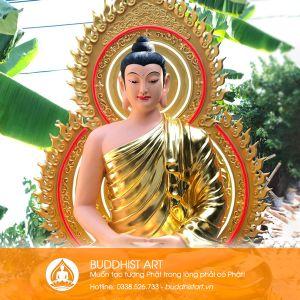 Tượng Phật Thích Ca Mâu Ni bằng bột đá 220cm