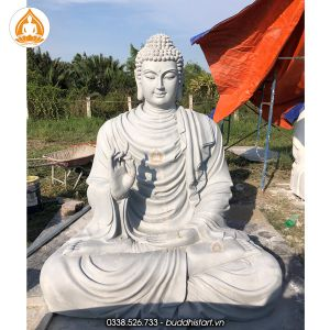 Đắp Tượng Phật Bổn Sư Thích Ca bằng xi măng