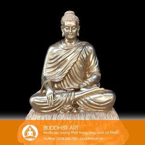 Tượng Phật Bổn Sư Thích Ca Ấn Địa Xúc bằng đồng