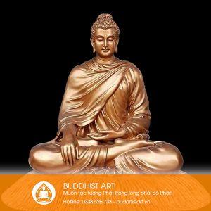 Tượng Phật Bổn Sư Thích Ca bằng đồng 2 mét