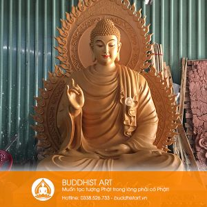 Tượng Phật Bổn Sư Thích Ca Niêm Hoa Vi Tiếu