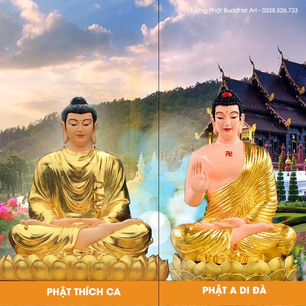 Đức Phật Thích Ca và Phật A Di Đà giống hay khác nhau?