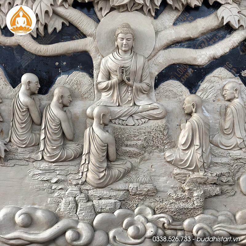 Dự án điêu khắc bộ phù điêu cuộc đời Đức Phật trên chất liệu gỗ